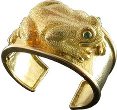 1970's David Webb Frog Cuff