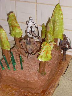 forest moon of endor/ star wars cake