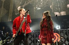 Machine Gun Kelly and Camila Cabello perform live at the Y100's Jingle Ball 2016 in Florida