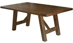 Our Chasteen Creek Dining Table is a beautiful blend of Mission and Rustic styles featuring Early American expanding breadboard ends in your wood choice.