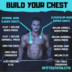 If you train in a big commercial gym, you've probably noticed Monday is National Bench Day. Everyone seems to be training their chest. Best Chest Workout, Chest Workouts, Gym Workouts, Chest Exercises, Male Workouts, Workout Fitness, Skinny Guy Workout, Bodybuilding Routines, Bodybuilding Training