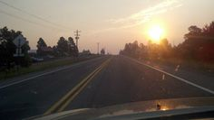 Coming into Pagosa Springs at dawn. Smoky weather making the colors intense!