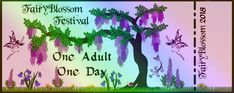 Eventbrite - Fantasy Arts & Entertainment presents Fairyblossom Festival 2016 - Saturday, June 2016 Weekend Festival, Festival 2016, Fairy Games, Vip Tickets, Forest Trail, Admit One, Game Pieces, Campsite, Live Action