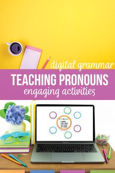 Looking for pronoun worksheets and alternatives for teaching pronouns? Pronoun activities should connect grammar to literature & student writing. Pronoun worksheets can clarify confusing grammar elements. A pronoun worksheet will help with demonstrative pronouns, personal pronouns, relative pronouns, & pronoun types. A clear pronoun lesson plan will help with middle school English lesson plans. Teaching pronouns as part of the eight parts of speech activities for sixth grade middle school… Teaching Pronouns, Pronoun Activities, Pronoun Worksheets, Teaching Grammar, Teaching Language Arts, Speech Activities, Teaching Resources, Art Classroom, English Classroom