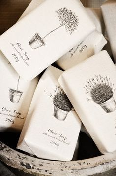 herbs - soap, nice illustration.