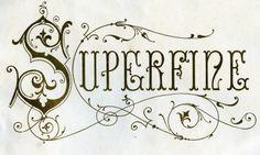 Superfine - 19th century cigar box lithograph