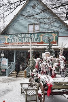 Fred's General Store in Beech Mountain, NC, the highest town in eastern North America. Ski, sled and snowboard supplies.