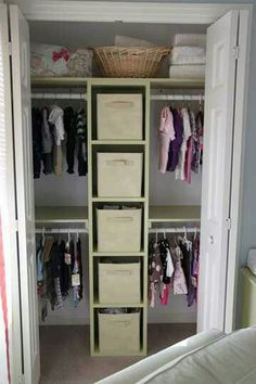 Exactly what we've built for the girls' room, but with two towers of shelving.
