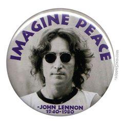 John Lennon - Imagine Peace Button on Sale for $1.99 at HippieShop.com