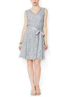 Luella Lace Belted A-Line Dress