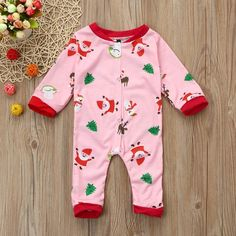 Pink Christmas Party Long Sleeve Pajamas from kidspetite.com! Adorable & affordable baby, toddler & kids clothing. Shop from one of the best providers of children apparel at Kids Petite. FREE Worldwide Shipping to over 230+ countries ✈️ www.kidspetite.com #baby #infant #girl #sleep #newborn #pajamas Baby Girl Pajamas, Hot Dads, Little Games, Blue Daisy, Long Sleeve Pyjamas, Rompers, Daddys Little, Pink Christmas, Kids Outfits