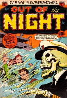 Vintage Horror Comics: Out of the Night No. 10 Circa 1953 (Annotated & Illustrated) (Out of the Night Horror Comics)