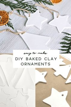 Start Out Your Very Own Sewing Company How To Make Clay Ornaments For Christmas Baked Clay Ornament Tutorial For Polymer Clay Holiday Ornaments Clay Christmas Decorations, Christmas Ornament Crafts, Noel Christmas, Homemade Christmas, Christmas Tree Ornaments, Holiday Crafts, Christmas Baking, Ornaments Ideas, Homemade Ornaments