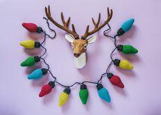 El blog de Dmc: Patrón de ganchillo: guirnalda de Navidad