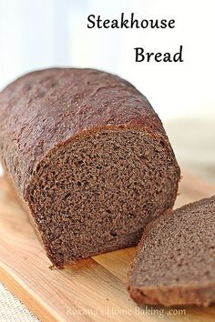 Steakhouse bread - light, soft, you can taste the sweetness of the rye flour with nutty touches and coffee aroma (Vegan & no molasses or tons of weird food coloring like I've seen in some other recipes) Bread Machine Recipes, Bread Recipes, Cooking Recipes, Copycat Recipes, Home Baking, Sweet Bread, Bread Baking, Yeast Bread, Quiche