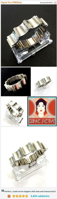 Antonio Pineda Iconic Thumbprint Bracelet, Modernist Maestro, Mid-Century, Concave Rectangle Panels, Heavy 970 Sterling Silver, Book Piece https://www.etsy.com/Vintageimagine/listing/525151984/antonio-pineda-iconic-thumbprint?ref=shop_home_active_1