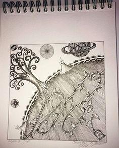Asteroid B612  #zen❤art#asteroidb612#thelittleprince#antoinedesaintexupery#sketchbook#mysketchbook#ilovedrawing#drawingismyworld#pendrawing#zentanglearts#zentangle#doodle#blackandwhitedrawings#micron#pigma#