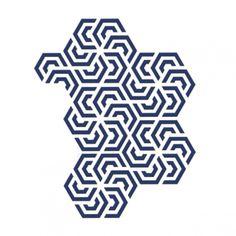 MONOQI | Polygon Geometry Wandsticker