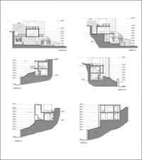 Viewpoint House by Arquitectos Bude, Villa Design, House Design, Houses On Slopes, Shipping Container House Plans, Architectural Section, House On A Hill, House 2, Spanish House