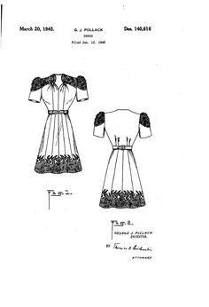 1945 DESIGN FOK A DRESS  George J. Pollack