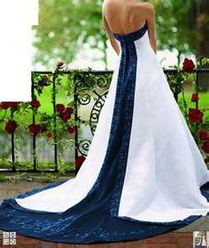 Image detail for -Navy blue wedding dress. OMGOMGOMG