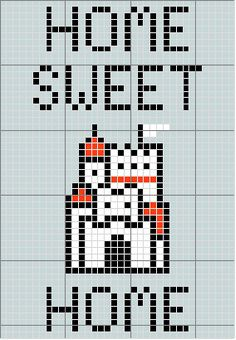 Home Sweet Home Cross Stitch Pattern Mario