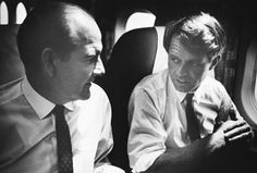 Sen. McGovern with Sen. Robert F. Kennedy. The two were close friends in the United States Senate and Kennedy once referred..to McGovern as the most honest man in the chamber. Kennedy's assassination was a devastating blow to McGovern, but his standing for Kennedy at the Democratic Convention served as an inspiration for McGovern's own presidential campaign four years later..