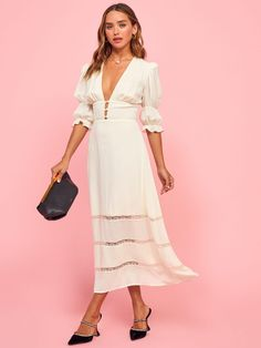 Reformation For The Real Life Dresses Of Your Dreams! - We Select Dresses White Dress Fall, Staple Dress, Midi Length Skirts, Spring Dresses, Spring Outfits, Short Dresses, The Dress, Fit And Flare, Spring Fashion