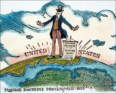 The Monroe Doctrine was signed on December 2,1823. This doctrine, signed by United States President James Monroe, closed the Americans off to European intervention. Monroe tried to signify a clear break between the New World and Europe and put an end to European colonization. -L.O.