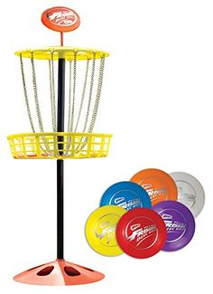 The Wham-O Mini Frisbee Golf Game set is a fun, interactive indoor/outdoor toy for kids and adults. Play a round of disc golf with the entire family. The disks are small enough for kids but adults wil Best Outdoor Toys, Outdoor Toys For Kids, Outdoor Games, Outdoor Play, Indoor Outdoor, Backyard Games, Backyard Play, Outdoor Stuff, Backyard Ideas