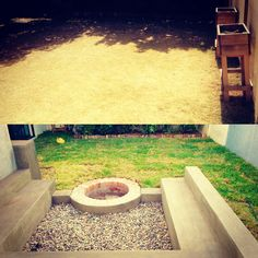 Before and after pic from House2homeSA in Cape Town, South Africa! Every man needs a braai pit in SA!!