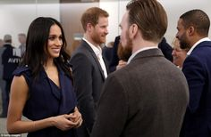 After the forum, the Royals spent time talking to people involved with their campaigns as well as those helped by them