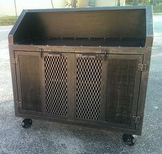 Industrial furniture bar cart custom made 012 by IndustEvo on Etsy