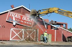 Westminster Mall - Trail Dust Steak House being torn down
