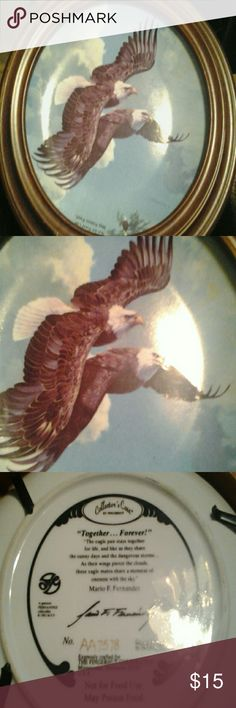 Together forever eagle plate Nice collectors plate signed and numbered Other