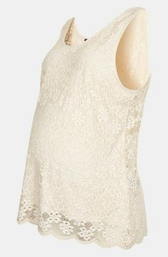 Topshop Lace Maternity Tank available at #Nordstrom