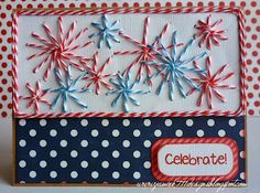 4th of July Fireworks Card made with Trendy Twine and Jaded Blossom stamps.