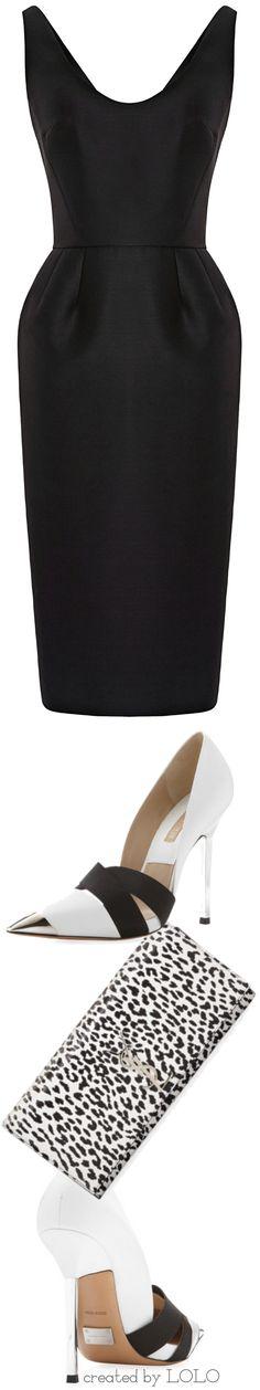 Martin Grant Dress, Michael Kors Shoes, YSL Clutch