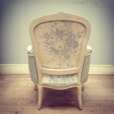 Multi-fabric French vintage chair back (kate Forman fabric)