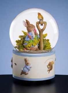 globe music boxes | ... Francisco Music Box Company: Beatrix Potter Peter Rabbit Water Globe