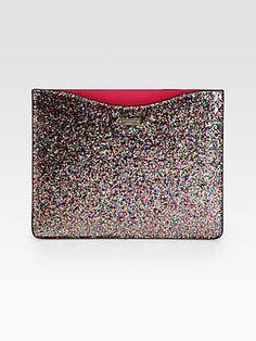 Kate Spade New York - Glitter iPad Sleeve - Saks.com