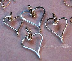 How to Wire Wrap Hearts Wire Jewelry Tutorial Charming #wirejewelry