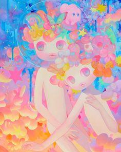 Sunset Art Print by soyounlee Kunst Inspo, Art Inspo, Art And Illustration, Korean Art, Asian Art, Fantasy Kunst, Fantasy Art, Pop Surrealism, Aesthetic Art
