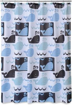 Allure Home Creations Whale Watch Printed on Poly Duck Shower Curtain Whale Bathroom, Bathroom Kids, Kids Bath, Kid Bathrooms, Whale Shower Curtain, Fabric Shower Curtains, Curtains Walmart, Printed Curtains, Bath Towel Sets