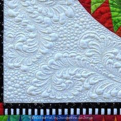 Isn't the quiltwork just amazing? #becolourful #murphytammy #quiltwork #beautifulfeathers #chasingdreams #rainbowcollection #2015design