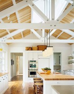 Vaulted ceiling with skylights  Frog Hill Designs: Wide Open Spaces.