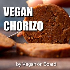 The classical Spanish sausage made vegan! Enjoy slices of this vegan chorizo on bread, as a pizza topping or add to paella and stews for extra flavour. Vegan Dinner Recipes, Vegan Desserts, Mexican Food Recipes, Vegetarian Recipes, Cooking Recipes, Dessert Recipes, Vegan Recipes Videos, Spanish Recipes, Tofu Recipes