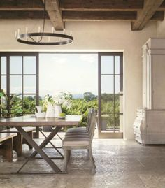 from the pages of Veranda, is this Napa residence designed by architect, Howard Backen , of Backen, Gillam & Kroeger Architects. The cei. Gillam, House Design, House, Transitional House, Home, New Homes, House Interior, Interior Design, Rustic House