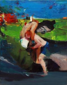 "Saatchi Art Artist Pavel Grosu; Painting, ""Boxing fight (SOLD)"" #art"
