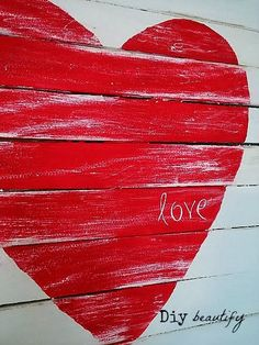 How to make a Mini Pallet Valentine Sign | Diy beautify... can I use my big crafting sticks to make?